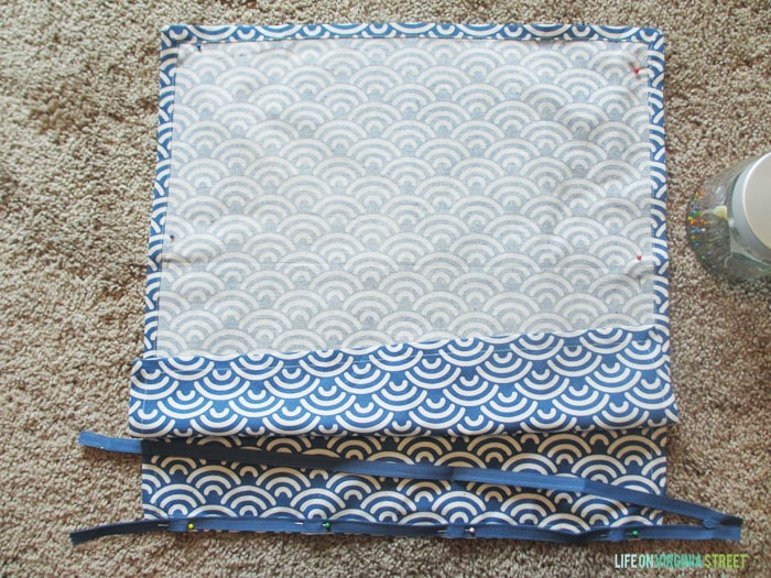 DIY Napkin Pillow - Life On Virginia Street