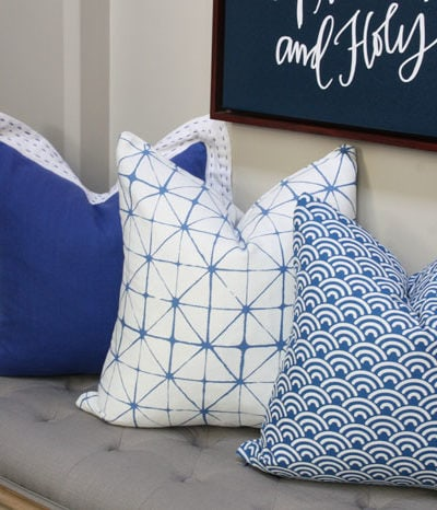 DIY Napkin Pillows