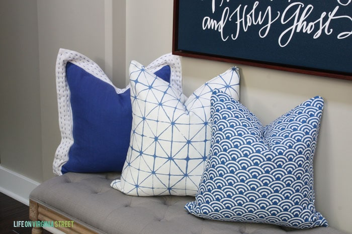 DIY Summer School: Napkin Pillows