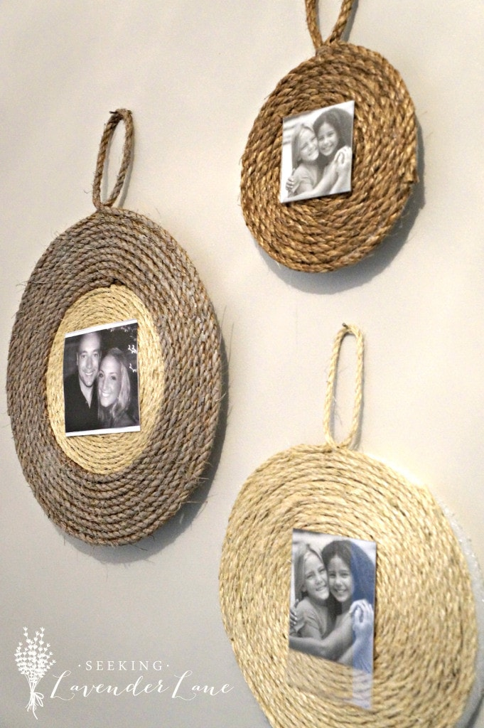 {DIY Wall Rope Frame via Seeking Lavender Lane}