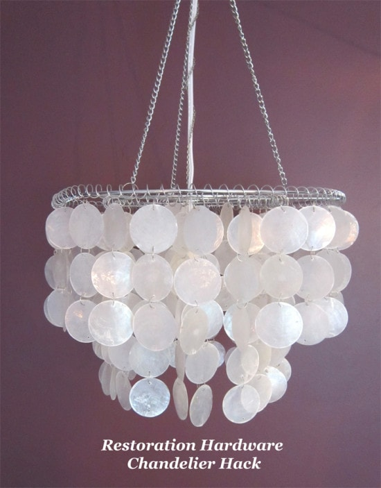 {Restoration Chandelier Hack via The Honeycomb Home}
