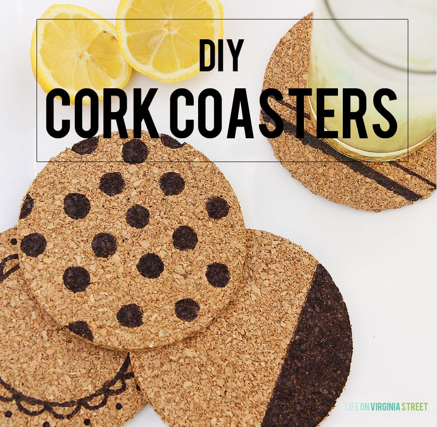 Diy Cork Coasters Super Easy Craft Project Life On