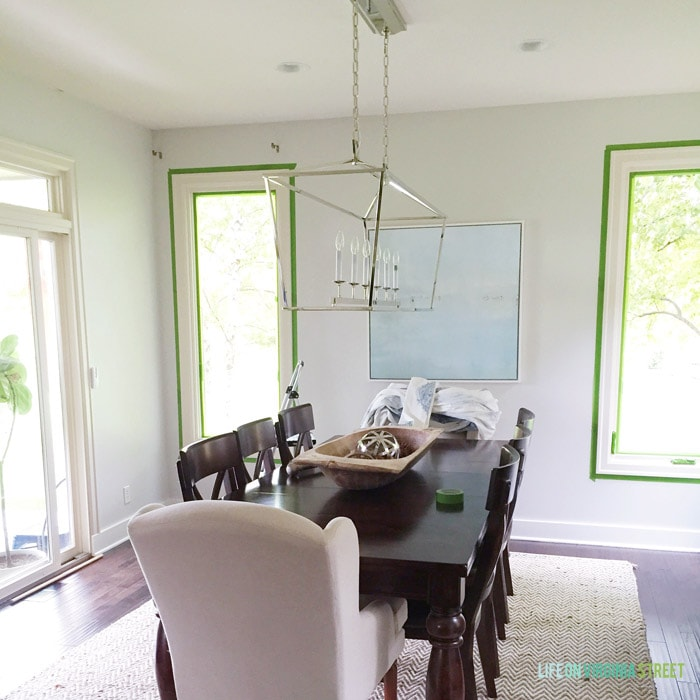 Dining Room Paint Progress - Life On Virginia Street