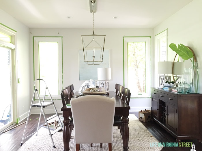 Dining Room Window Trim Progress - Life On Virginia Street
