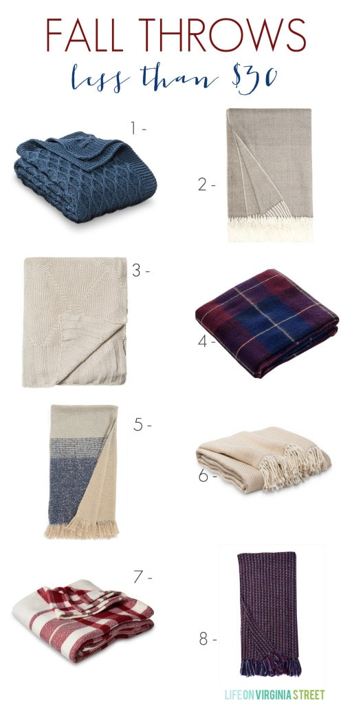 Affordable Fall Throws under $30 - Life On Virginia Street