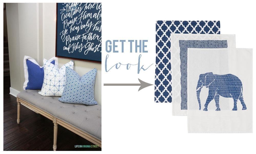 Get the Look - DIY Napkin Pillows - Life On Virginia Street