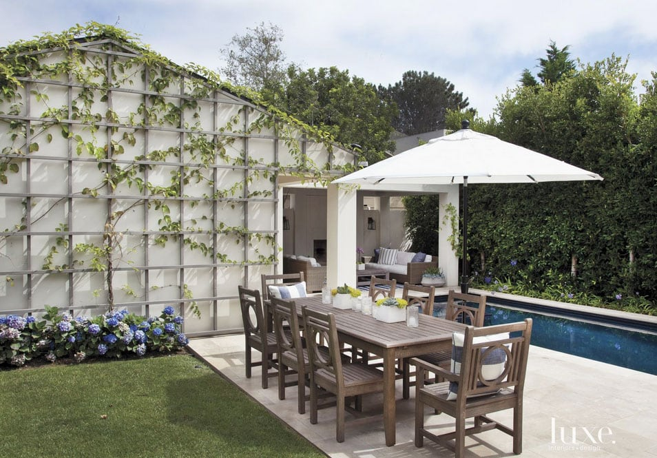 Pool Area - A Contemporary Streamlined Del Mar House With East Coast Flair