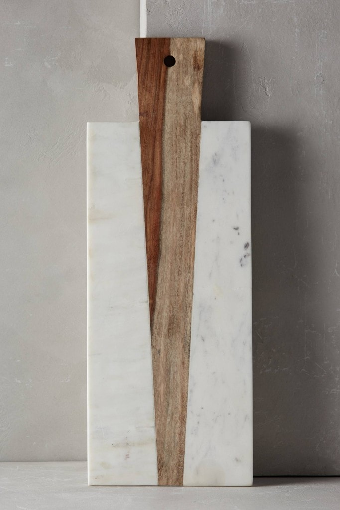 {Marble and Wood Cheese Board}