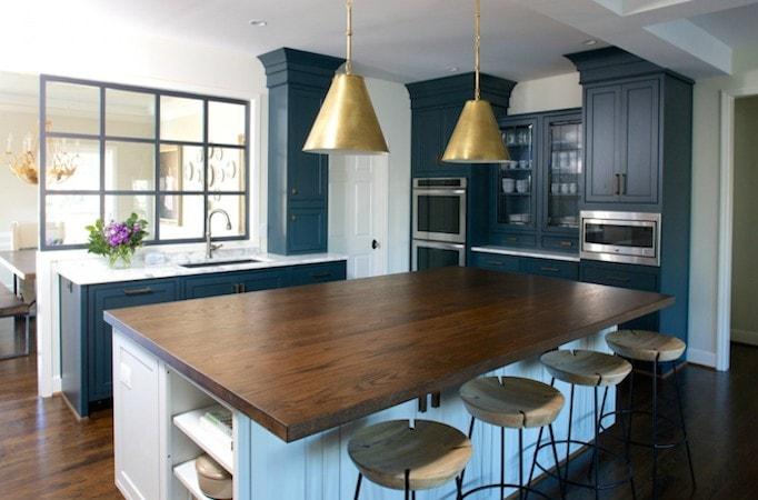 Navy Blue Kitchen Makeover