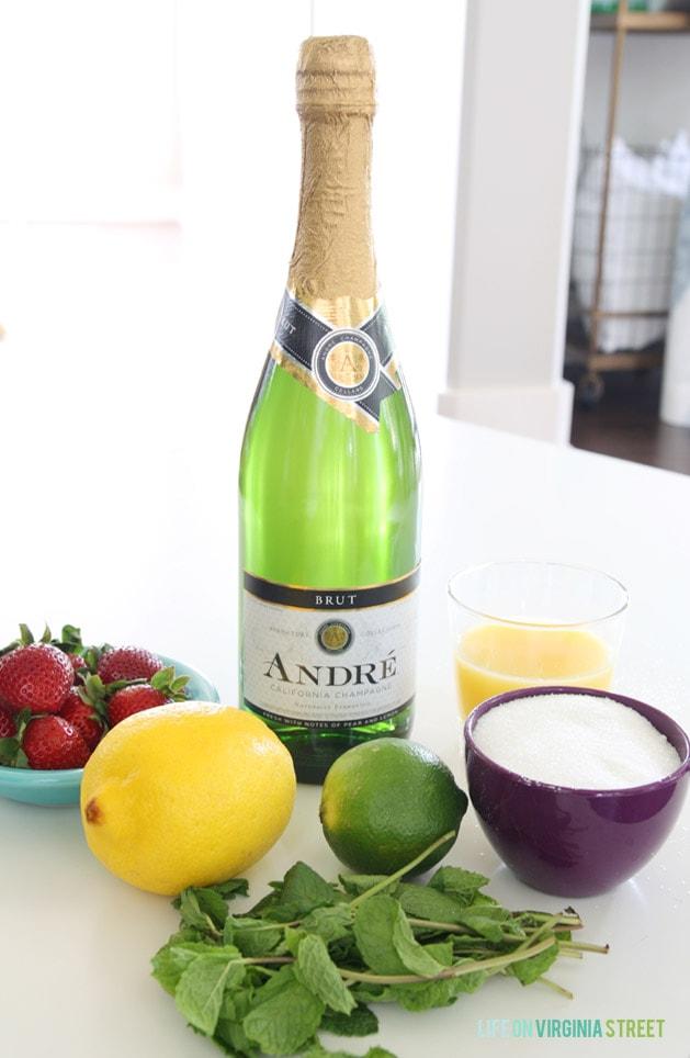Champagne Sangria Ingredients - Life On Virginia Street