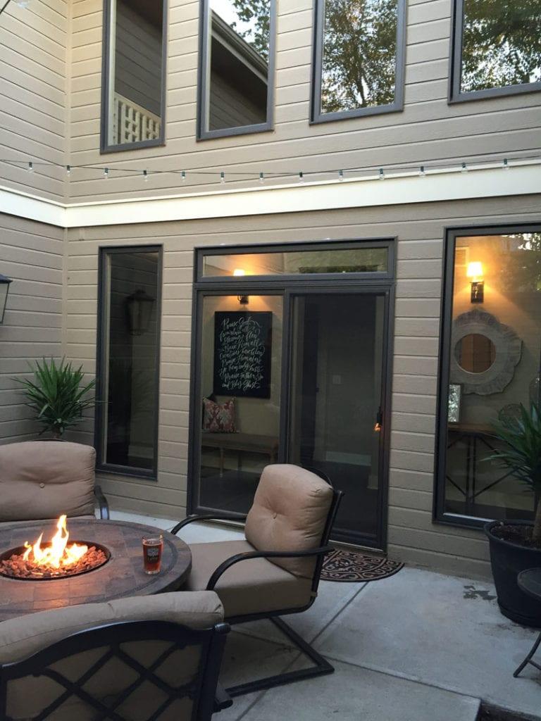 Courtyard Firepit - Life On Virginia Street