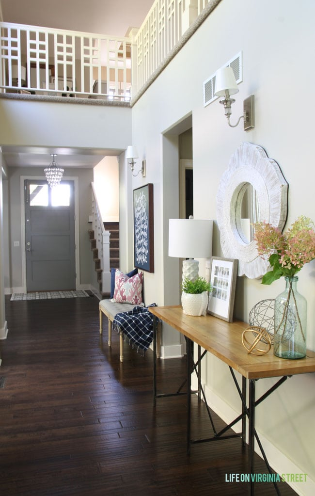 Fall Home Tour Entryway - Life On Virginia Street