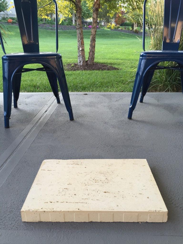 Travertine concrete paver