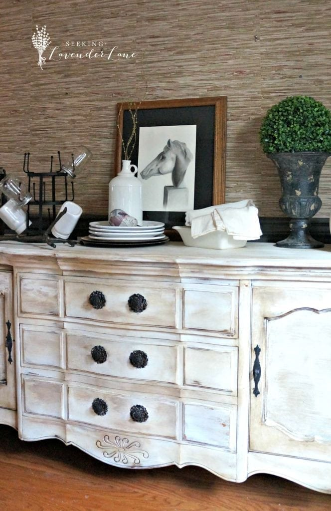 Painted Buffet via Lavender Lane
