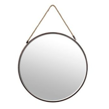 Fun rope and bronze mirror is perfect for any room.