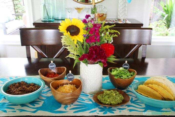 Taco Bar Food - Life On Virginia Street