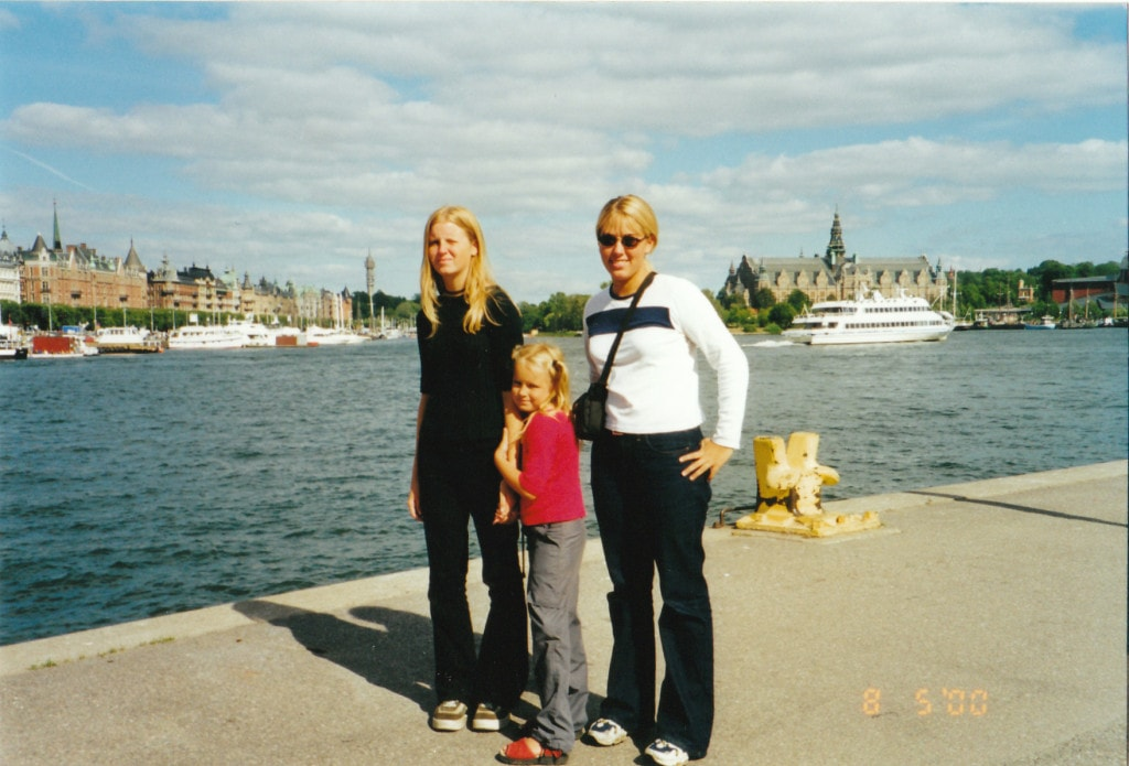 August 2008 - Me and my Finnish sisters in Stockholm, Sweden