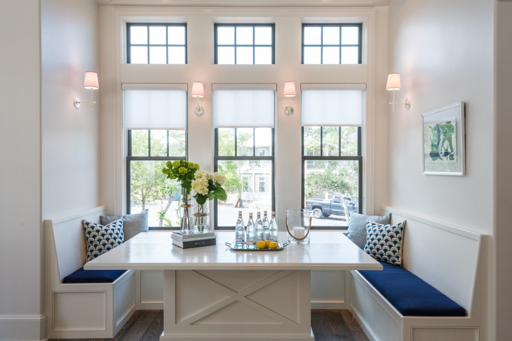 Breakfast Nook via Old Seagrove Homes