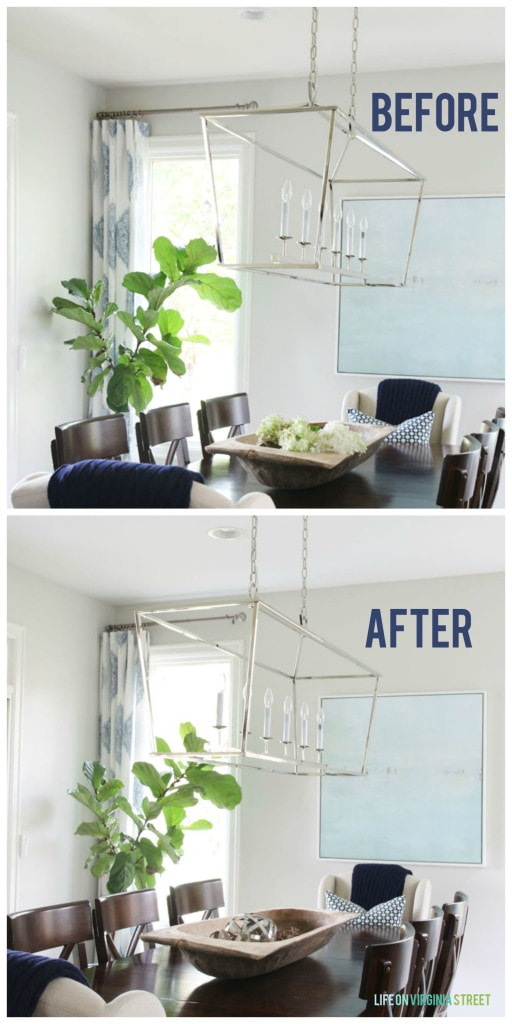 Dining Room Ceiling Before and After - Life On Virginia Street