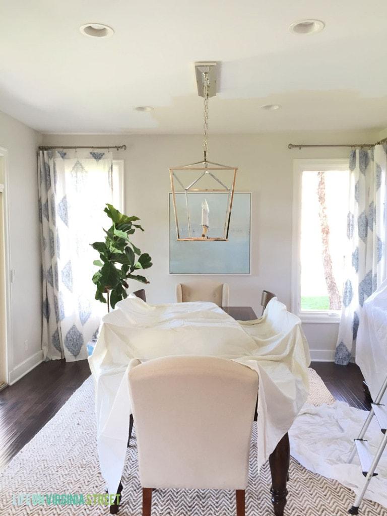 Dining Room Ceiling - In Progress - Life On Virginia Street