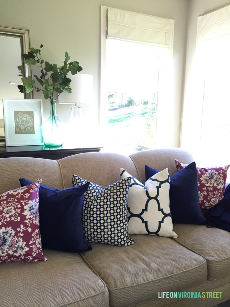 Fall 2015 Living Room and Throw Pillows