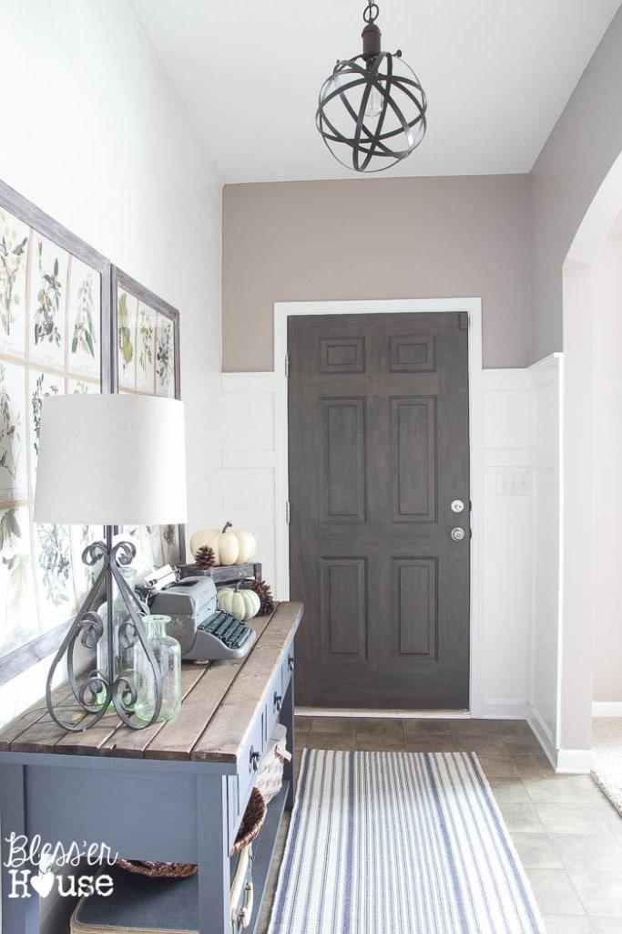 Faux Wood Painted Door via Bless'er House