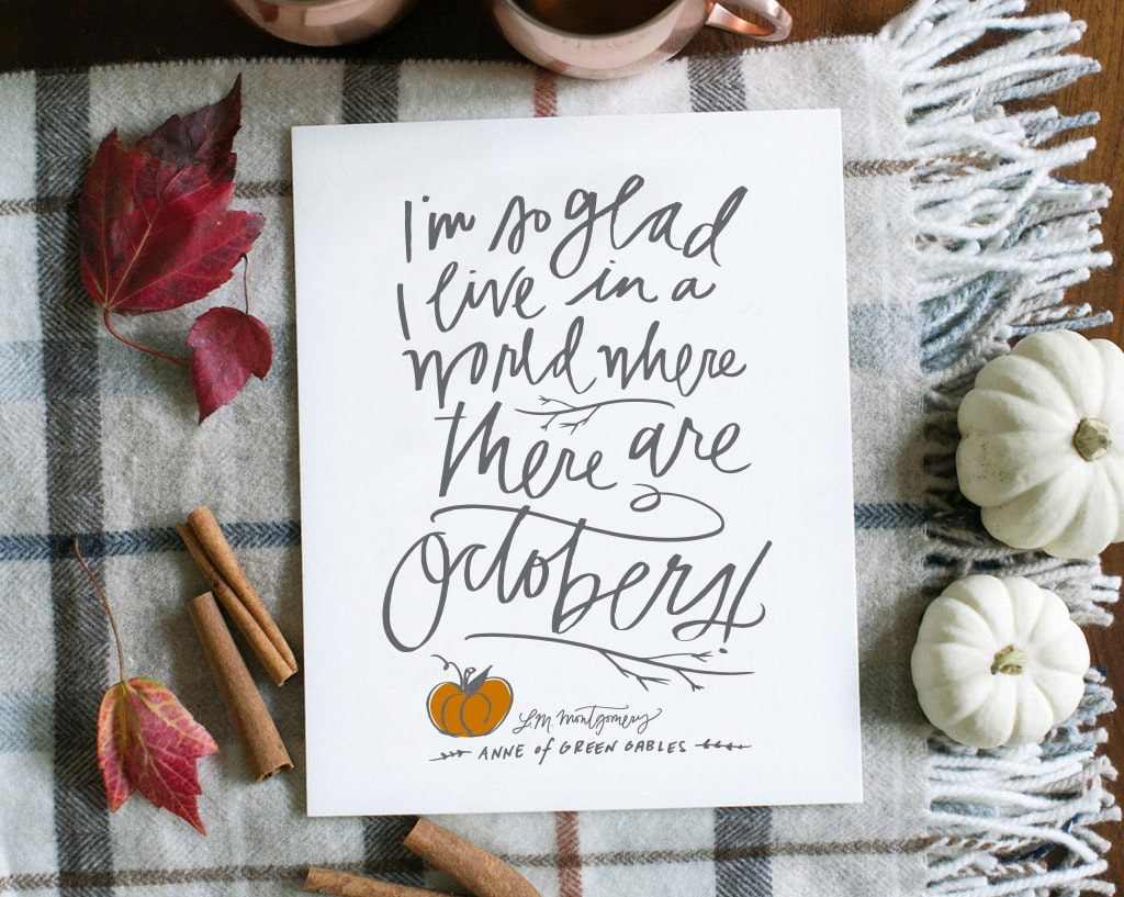 Free Fall Printable from Lindsay Letters