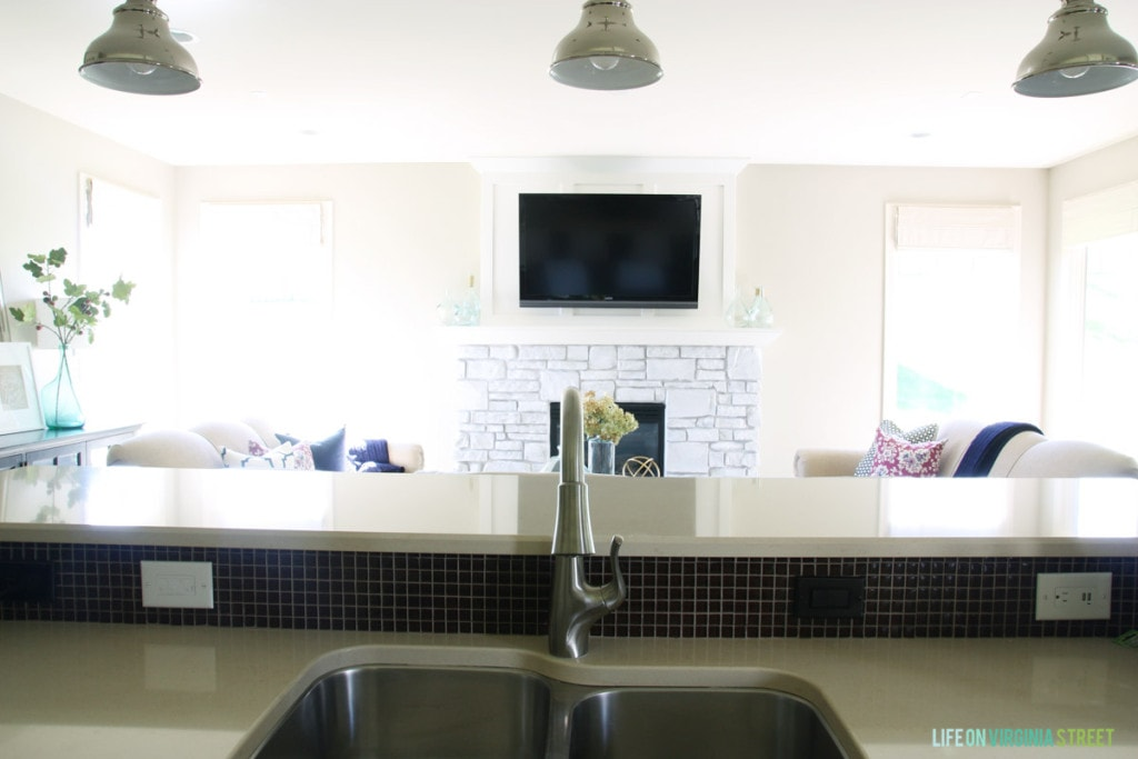 Our New Pfister Clarify Xtract Faucet Installation in the kitchen.