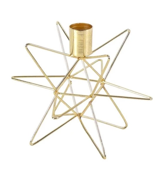 Gold Star Candlestick