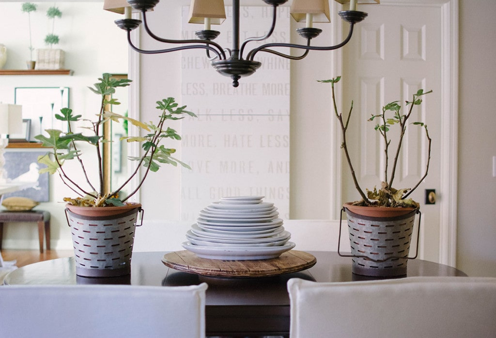 Breakfast Nook Details and Art - Neutral Home Tour - Life On Virginia Street