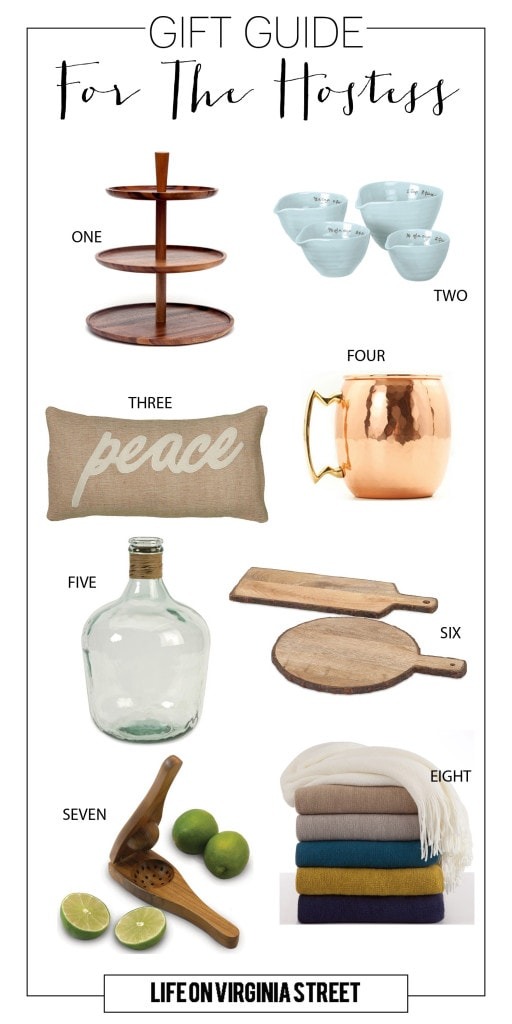 Gift Guide for the Hostess - Life On Virginia Street