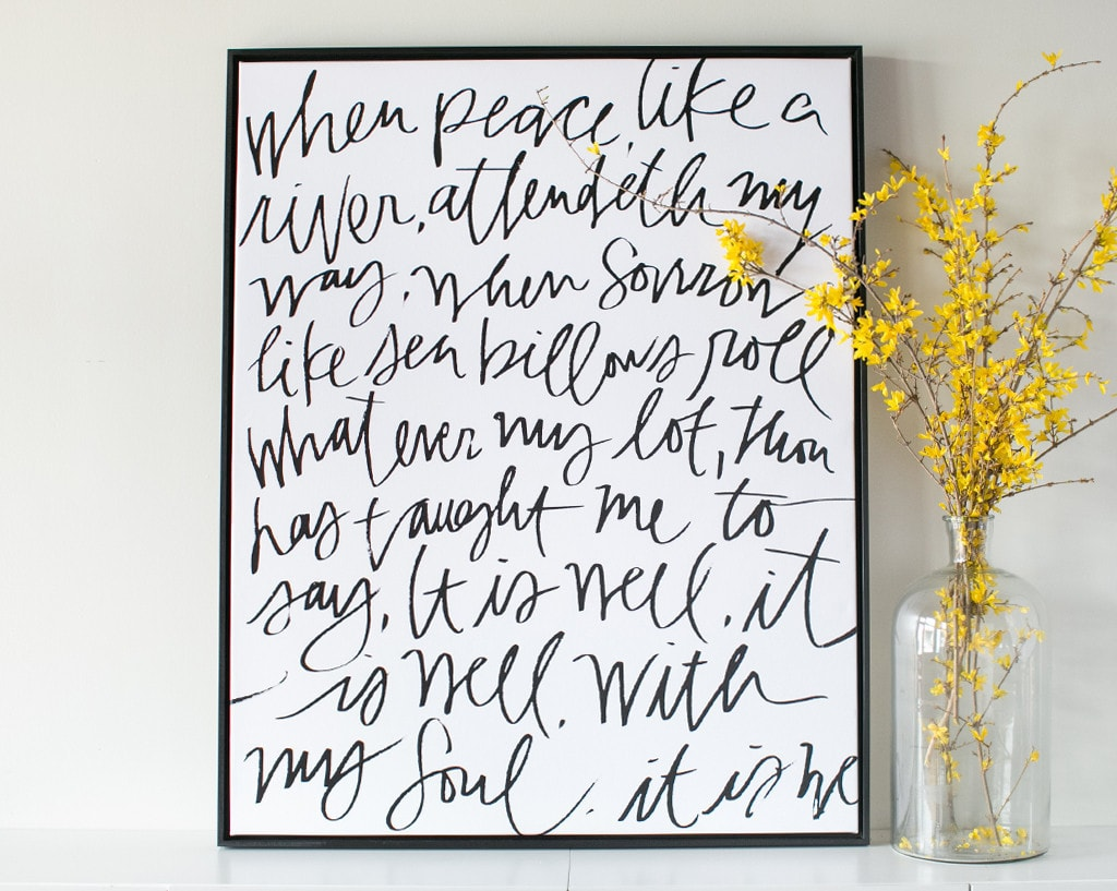 Lindsay Letters - It Is Well Canvas