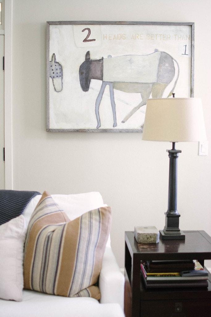 Living Room Art - Neutral Home Tour - Life On Virginia Street