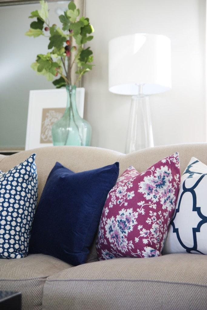 Living Room Fall Pillows - Life On Virginia Street