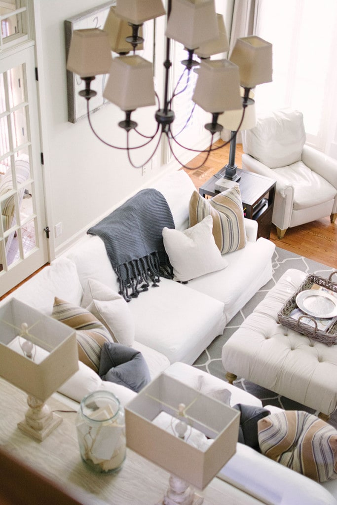 Living Room Overhead View - Neutral Home Tour - Life On Virginia Street