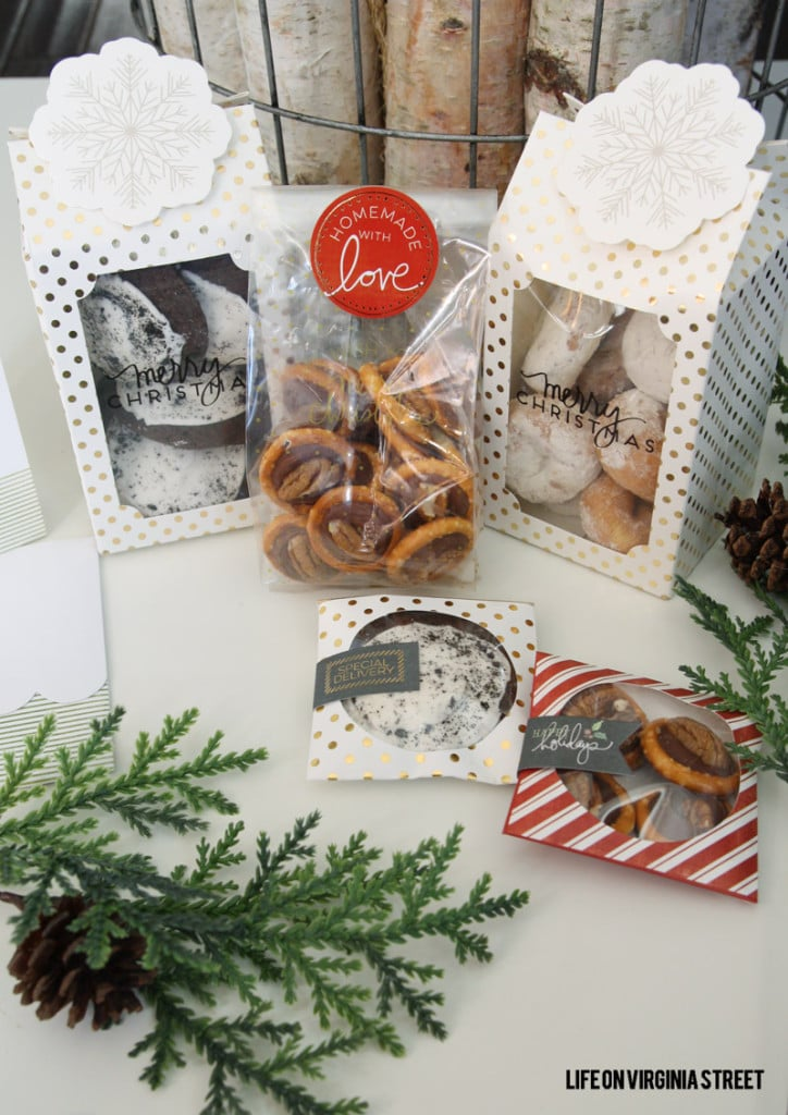 Beautiful neighbor gifts & favorite recipe pretzel turtles!