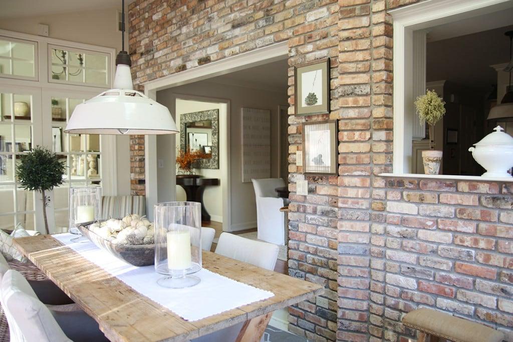 Sunroom Brick Wall - Neutral Home Tour - Life On Virginia Street