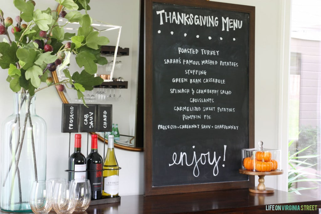 Thanksgiving Menu - Life On Virginia Street