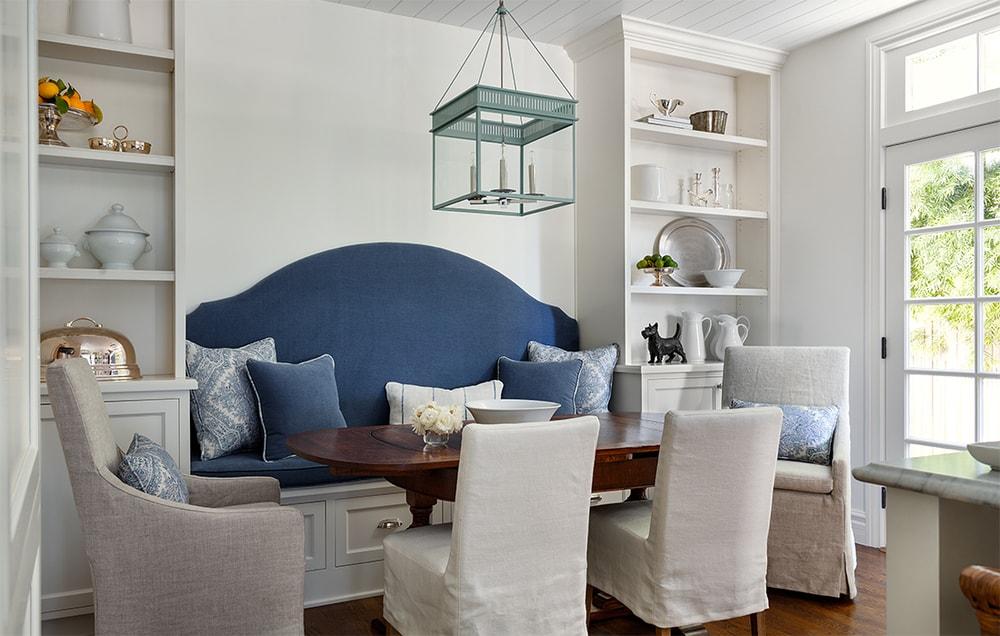 Blue & White Dining Room via Marianne Simon Design