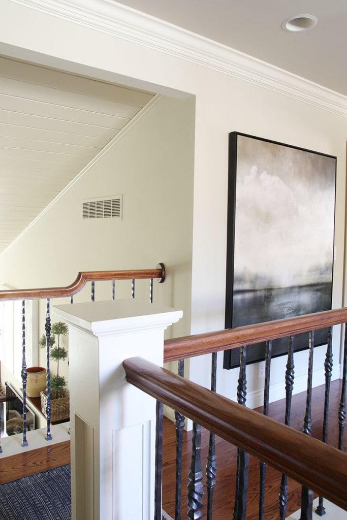 Upstairs Hallway - Neutral Home Tour - Life On Virginia Street