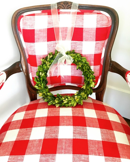 Buffalo Check Christmas Chair via DD's Decor and Design