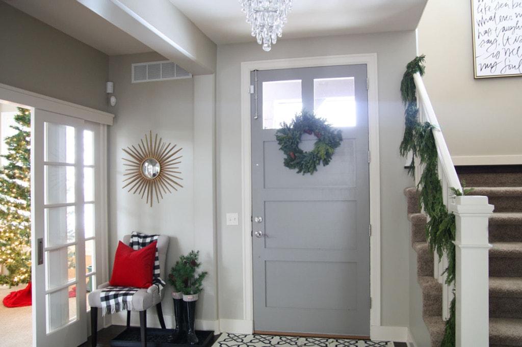 Christmas Entryway Door - Life On Virginia Street