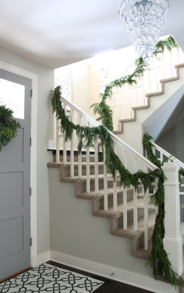 Christmas Entryway Staircase - Life On Virginia Street