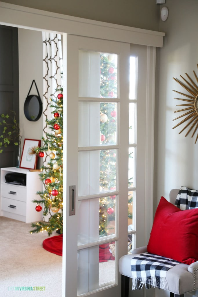 Christmas Entryway and Office Doors - Life On Virginia Street