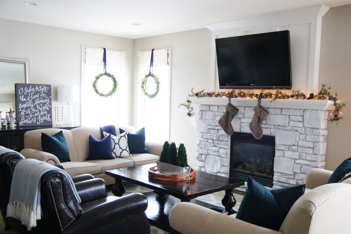 Preppy Plaid Christmas Home Tour - Life On Virginia Street