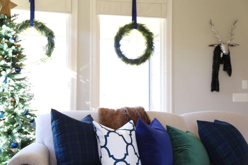 Christmas Living Room Pillow Detail - Life On Virginia Street