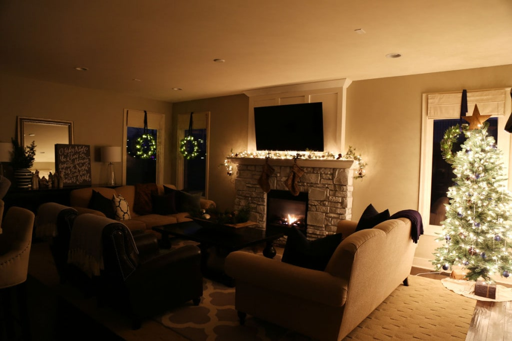 Christmas Living Room at Night - Life On Virginia Street