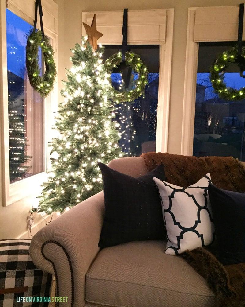 Christmas Living Room at Night - Life On Virginia Street