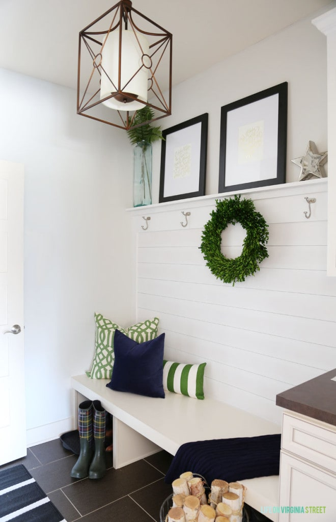 Christmas Mudroom Entry - Life On Virginia Street
