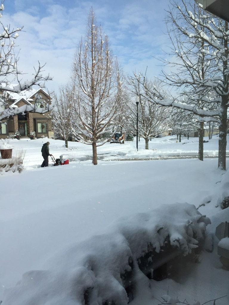 Christmas Snow 2015 - Life On Virginia Street